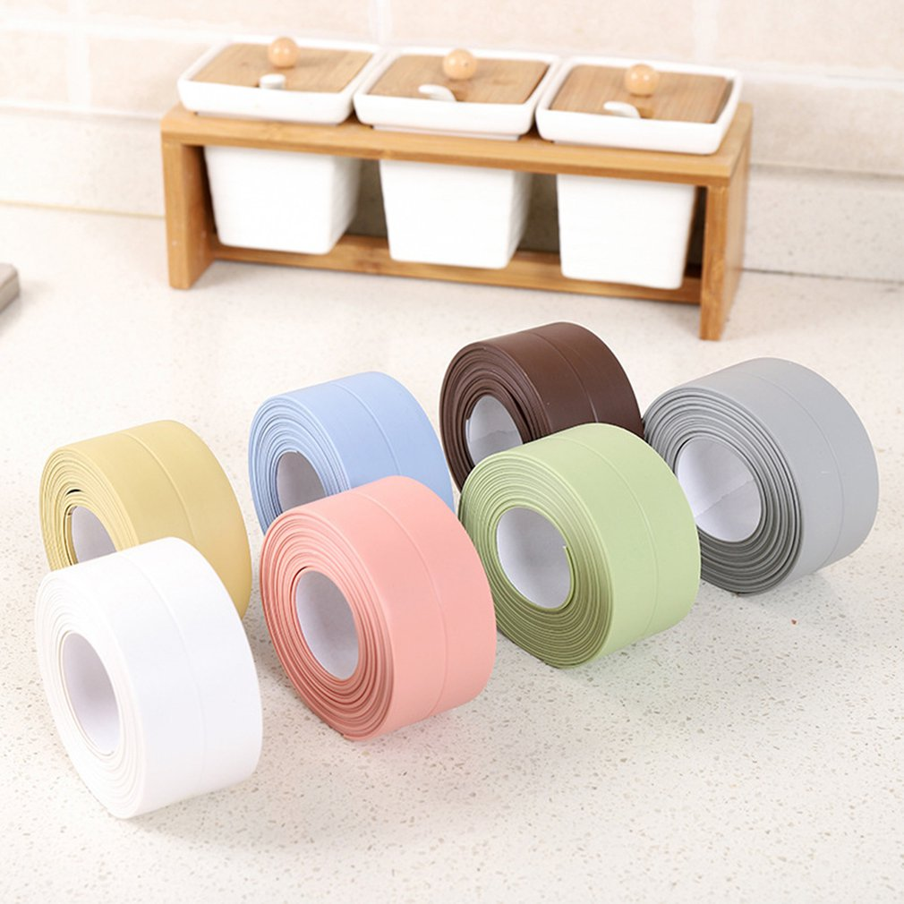 3.2m*3.8cm Single Fold PVC Waterproof And Mildew Proof Tape Drawer Kitchen Sink Seam Bathroom Toilet Wall Stickers Tape