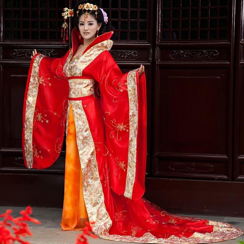 Costume de danse folklorique chinoise tang dynastie des femmes costume hanfu robe de mariée de style chinois