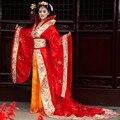 Danza popular china dinastía tang traje de las mujeres hanfu traje de novia de la boda dress estilo chino
