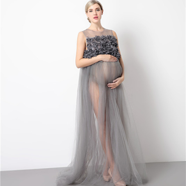 53a05e2036 Maternity Photography Props Pregnancy Wear Party Evening Dresses Clothes  Maternity Clothing For Photo Shoots Pregnant Dresses