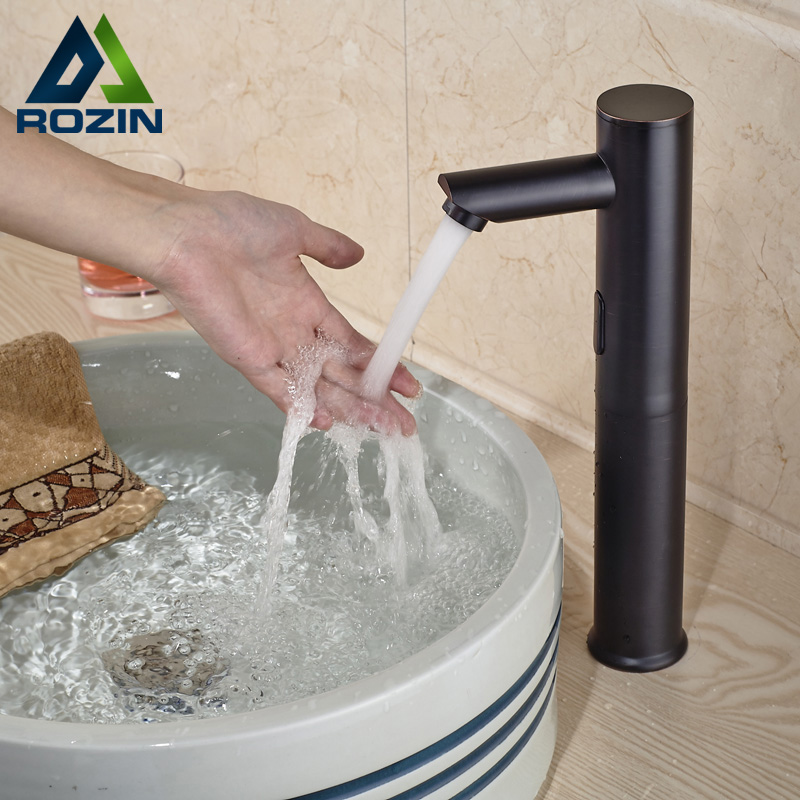 Sense Battery Powered Sensor Faucet Deck Mount Automatic Inductive Basin Tap sense