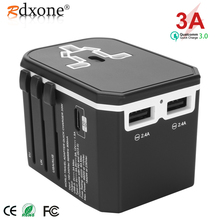Rdxone Universal Travel Adaptor All in one Power Adapter wall Electric Plugs Sockets for Mobile Phone, Tablet, Camera, Laptop