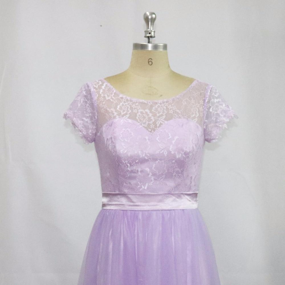 Vestidos de Festa Vestido Longo Vacker Lavendel Lång Brudtärna - Bröllopsfestklänningar - Foto 3