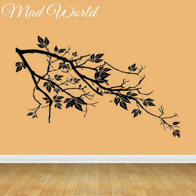 Mad World Tree Branch Floral Silhouette Wall Art Stickers Decal Home ...