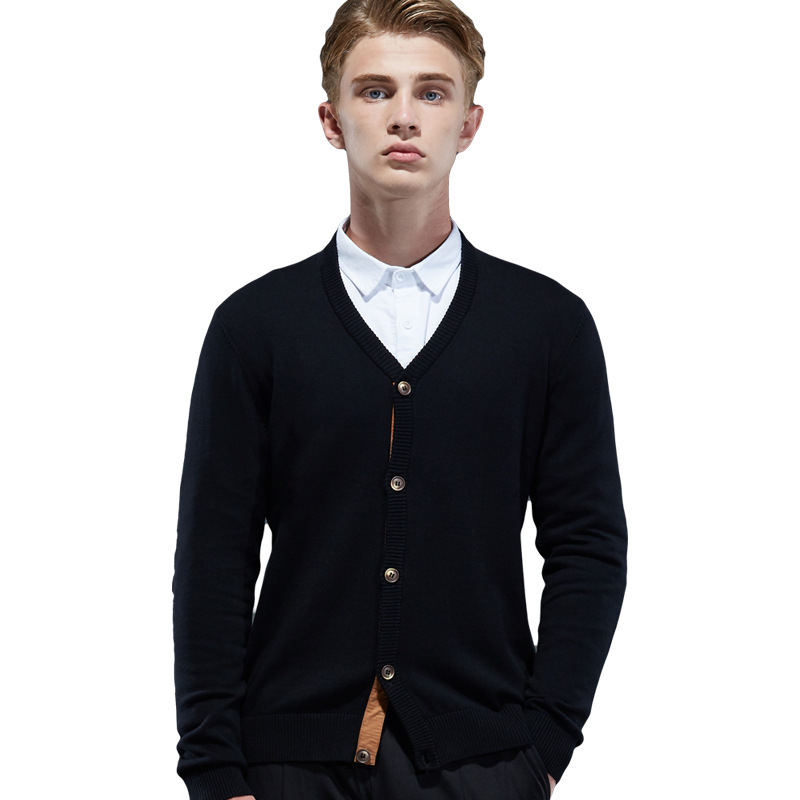 Sweaters Men Sweater Black Tops Cardigan Solid Casual Mens Wool Sweater Men Winter Clothes Men Office wear Plus Size Warm Solid
