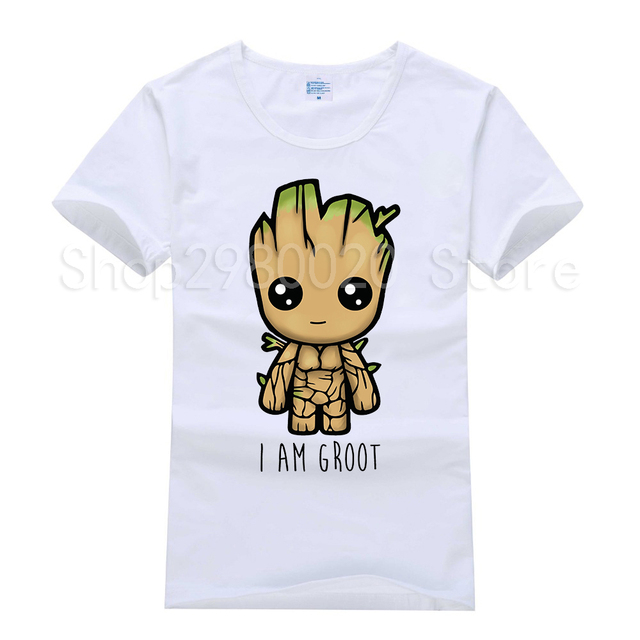 2018 Tshirt Novo Guardians Of the Galaxy 2 t shirt homens Anime pop engraçado Eu SOU GROOT groot Verão T-Shirt Masculina Legal Tops Tees Homme