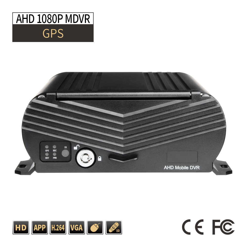 GPS Truck Security DVR 4CH AHD 1080P MDVR G Sensor I/O Alarm Support 2TB Hard Disk Car Video Recorder Playback Loop Recording