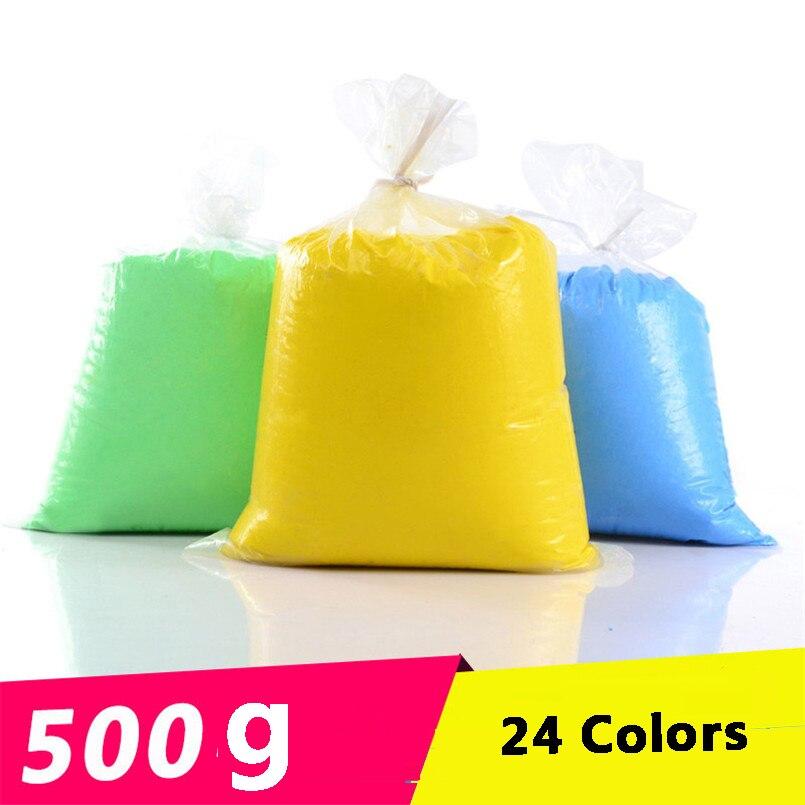 500g 24 colores suave arcilla Fimo polímero de modelado de arcilla mullida Plasticine DIY artesanía juguetes para niños educativos juguete