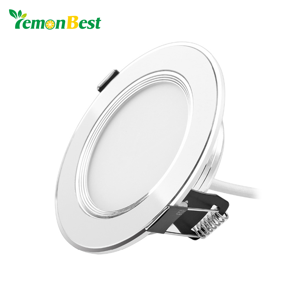 lemonbest 5pcs lot spot led downlight dimmable 3w 5w 7w 9w led panel down lights for home. Black Bedroom Furniture Sets. Home Design Ideas
