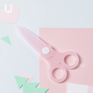 Image 4 - Youpin Jordan&Judy Childrens Scissors Safety Small Cute Paper cutting Knife Does Not Hurt The Hand Round Head Baby Scissors