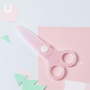 Image 4 - Youpin Jordan & Judy nożyczki dziecięce bezpieczeństwo mały uroczy papier do cięcia noża nie boli rąk okrągłe głowy nożyczki dla dzieci