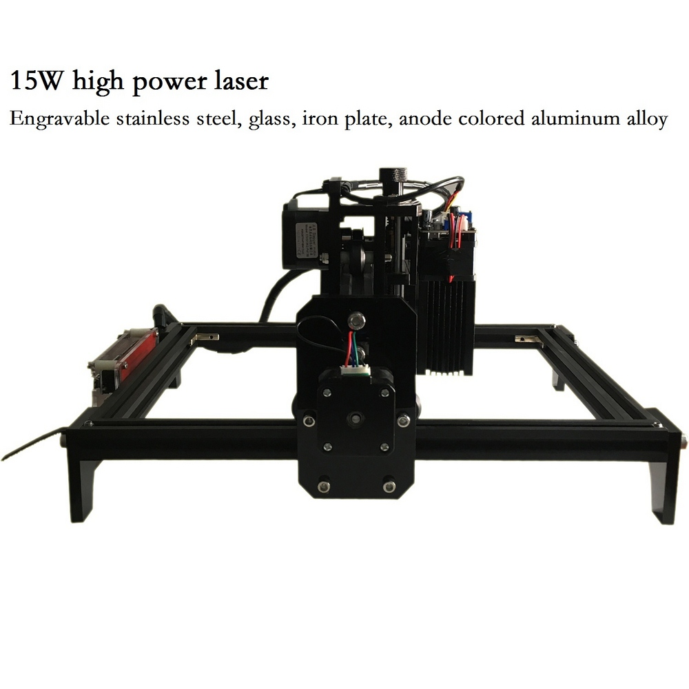 15W CNC Engraving Machine with 15000mw Laser Head Wood Router PCB Glass Metal Milling Machine Wood