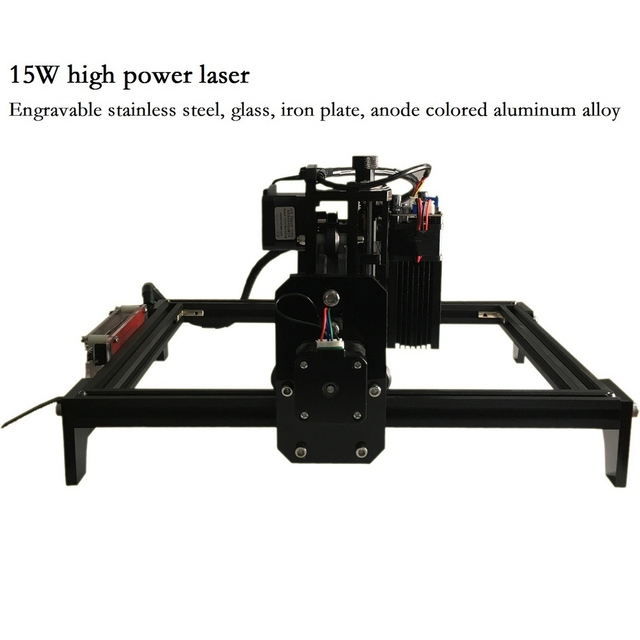 15W CNC Engraving Machine with 15000mw Laser Head Wood Router PCB Glass Metal Milling Machine Wood Carving Machine DIY Mini CNC
