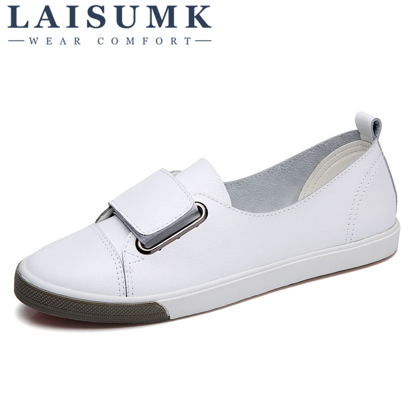2019 LAISUMK New Fashion Women Casual Canvas Shoes Woman Walking Shoes Women  Loafers 34e3818cc36b