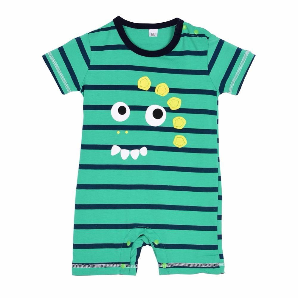 Summer Newborn Baby Cotton Boy Girl Striped Rompers One-piece Rompers Jumpsuits Infant Clothing 0-24M