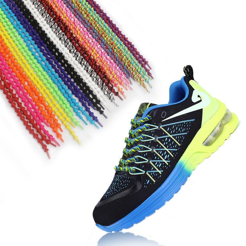 Lazy ShoeLaces Sneaker Elastic Shoelaces Elastic Shoe Lace Cordones New Design Rope Shoelaces Round Casual Sneakers new design round shoelaces 90cm no loose creative flat lazy sports shoelaces v025