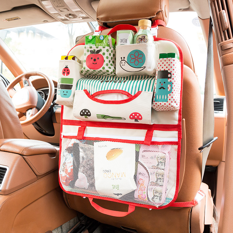 Cartoon Waterproof Universal Baby Stroller Bag Organizer Car Hanging Basket Storage Accessories
