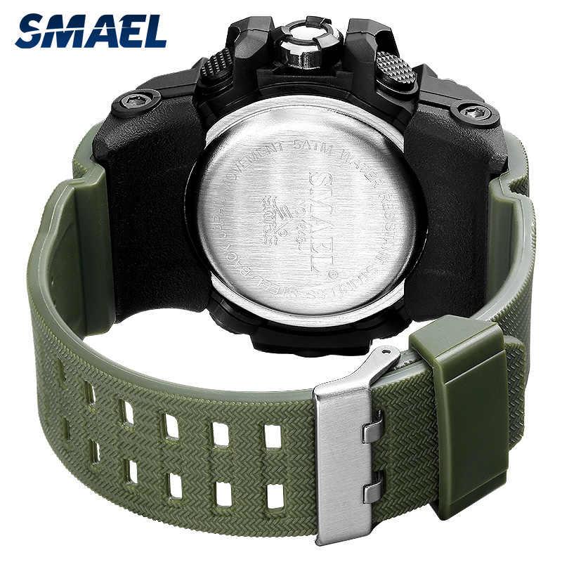 Relógio Militar Homens 50 SMAEL S À Prova D' Água Chronograph Relógio de Pulso de Choque Ao Ar Livre 1545 relogios masculino Homem De Quartzo LED Relógio Digital Relógio Do Esporte Masculino