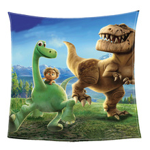 Fashion Cartoon Jurassic Park Flannel Fleece Blanket Printed Sofa Warm Bed Throw Adult