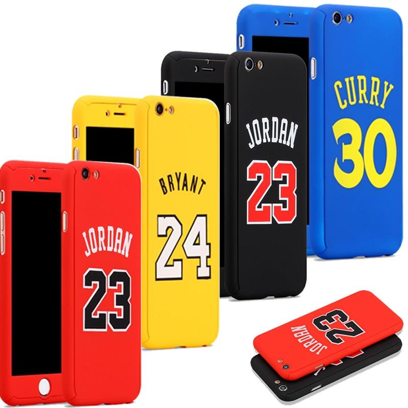 Michael Air Jordan 23 Phone Cover Case for funda iPhone 6 6s 7 8 Plus Kobe Bryant curry Caso Hood capinha for iPhone Case Jordan