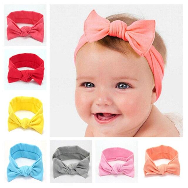 c2778988ae4 Newborn Bow Headband Cotton Tie Knot Kids Hair Band Turban Headband Hair  Accessories Summer Style Headwear