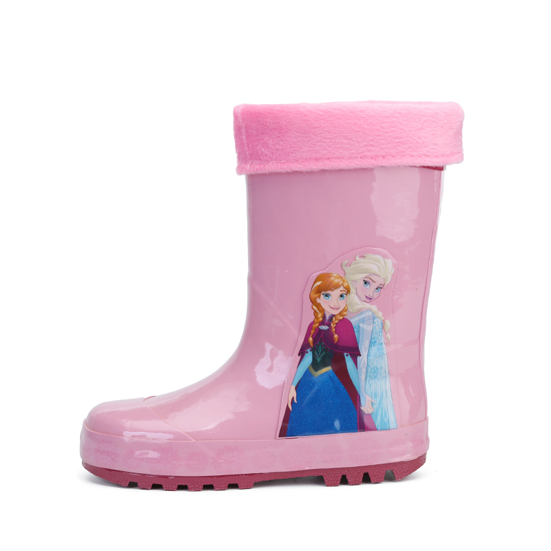 Boots Girls 2019 New Disney Frozen Princess Rain Boots Girls Skid Shoes Annie Elsa Baby Water Boots Childrens Overshoes Rubber Size 23-36