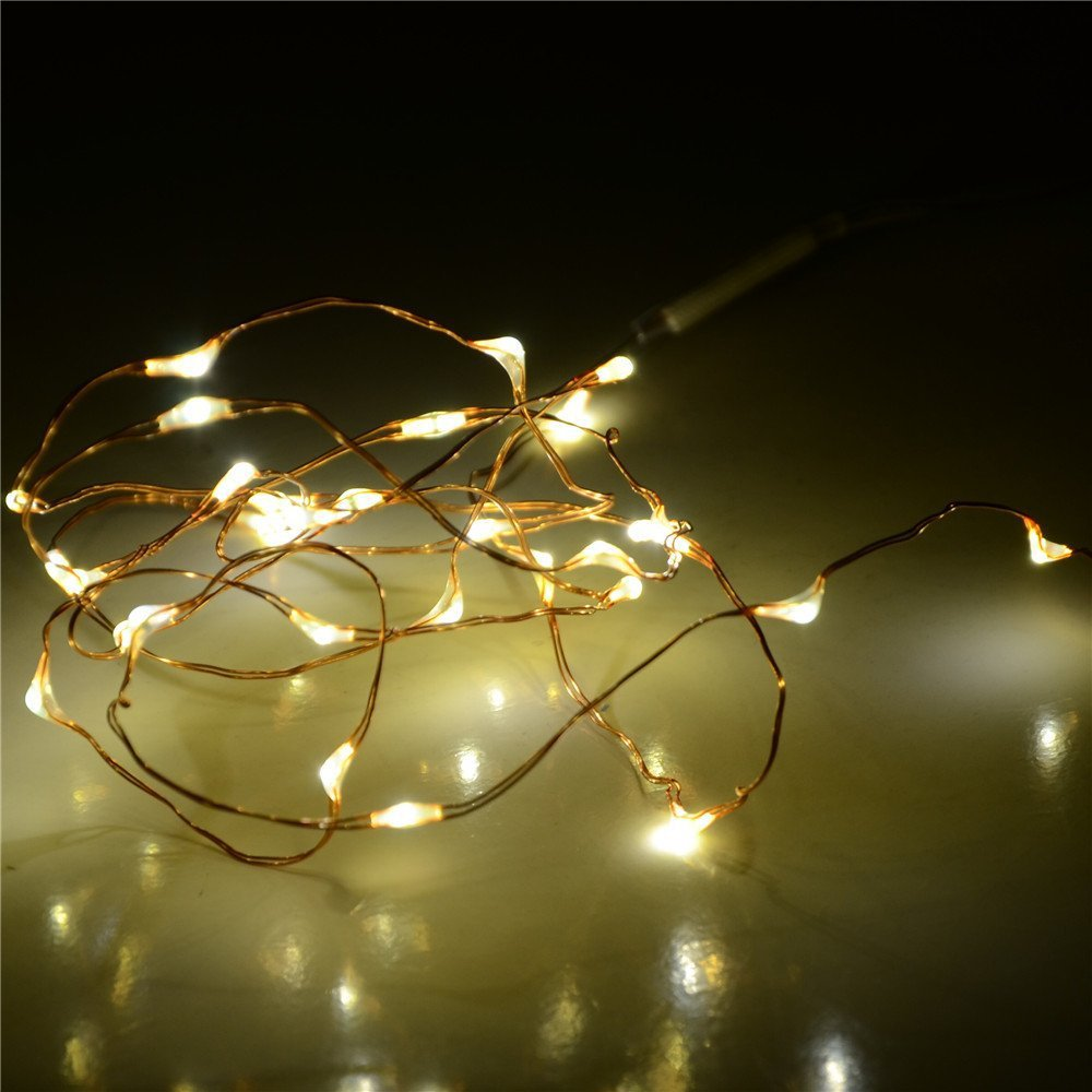 Wired Led Lights Trusted Wiring Diagram Rope 5m 50led Copper Wire String Wedding Fairy Mini Light Black