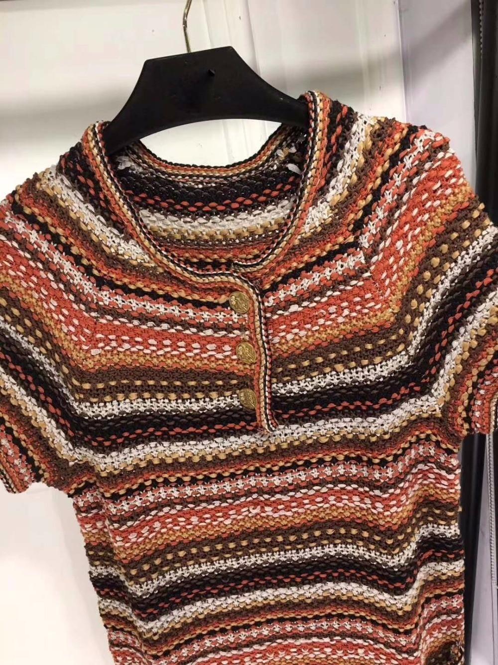 Cate Classique Bande D'été Robes Tricoter Printemps Mode Boho Vintage De Robe Femmes Gkfnmt Casual Tunique Bureau À 2018 5YnOwx0w