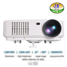 DH-TL120 Teaching 5200 lumens 3D LED LCD Full HD Projector Support 1920x1080P Video Proyector Office Home Theater Cinema Beamer