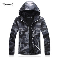 DIMUSI Quick Dry Men Windbreaker Skin Coat Sunscreen Waterproof Mens Camouflage Army Outwear Ultralight Windbreake Jacket