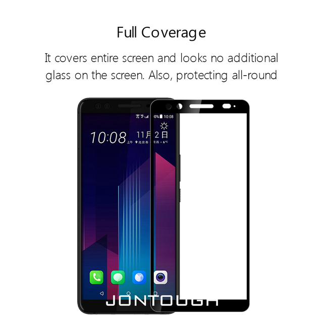 for HTC U ULTRA screen protector U12 D12 PLUS U PLAY U11 tempered glass full cover case friendly protective film accessaries