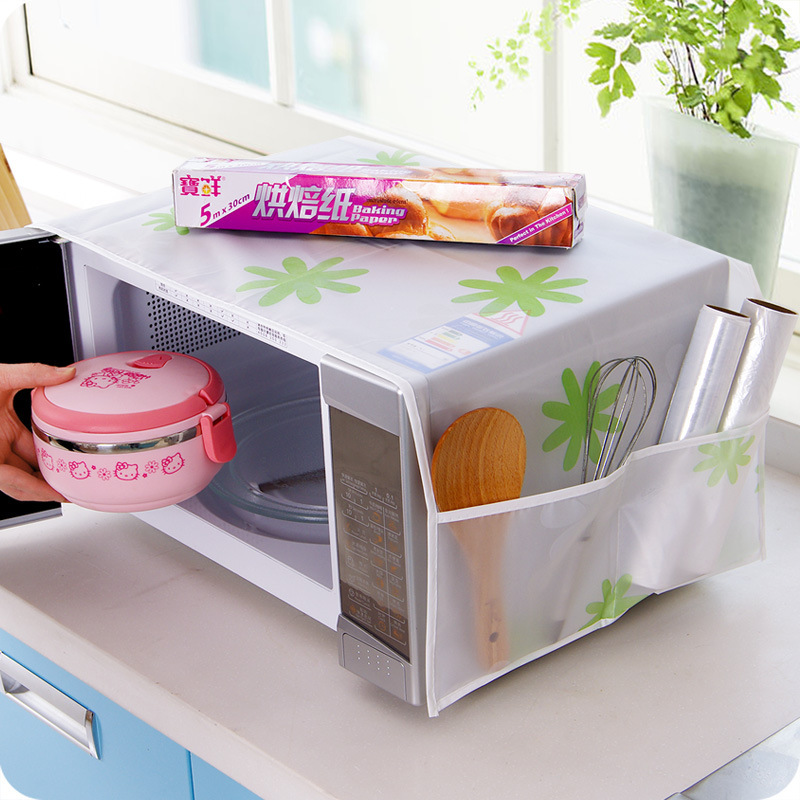 Newest Microwave Oven Covers with 2 Pouch Kitchen Gadgets Home Storage organization Bag Waterproof Easy To Clean Accessories