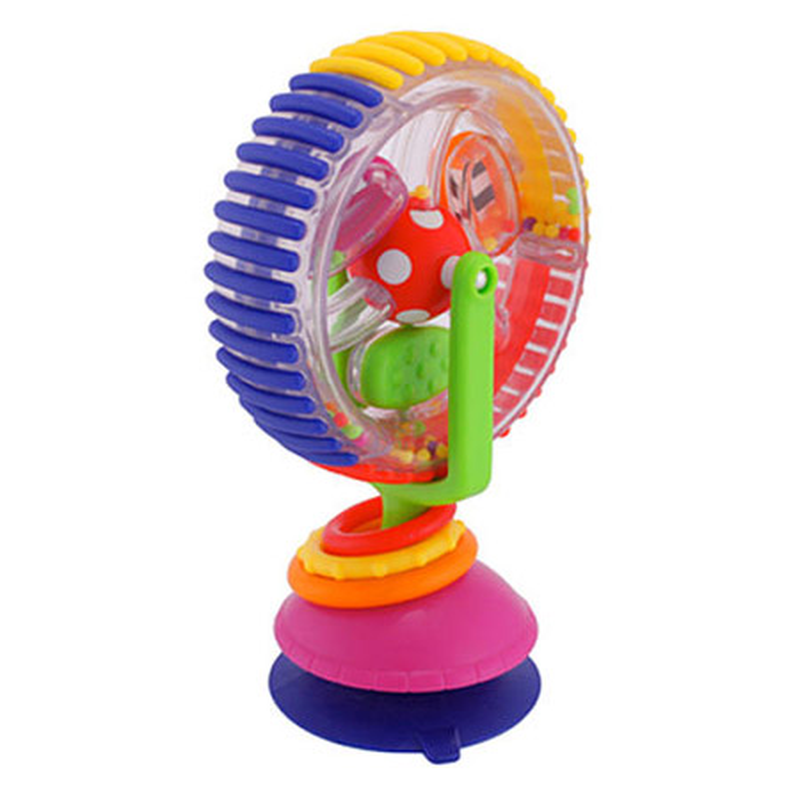 Ferris Wheel Baby Windmill Tricolor Rotate Augmented Reality Toys Infant Sucker Toys For Dining Chair Baby Stroller Learning Toy