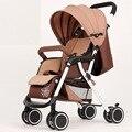 2016 Nuevo diseño de Lujo del cochecito de bebé, plegable carro de bebé, 6 colores cuatro ruedas solo asiento del cochecito de niño
