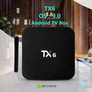 Image 2 - Tanix TX6 חכם אנדרואיד 9.0 טלוויזיה תיבת 4G 32G Allwinner H6 Quad Core 2.4G + 5G כפולה Wifi BT4.1 ממיר 4 K HD H.265 מדיה נגן