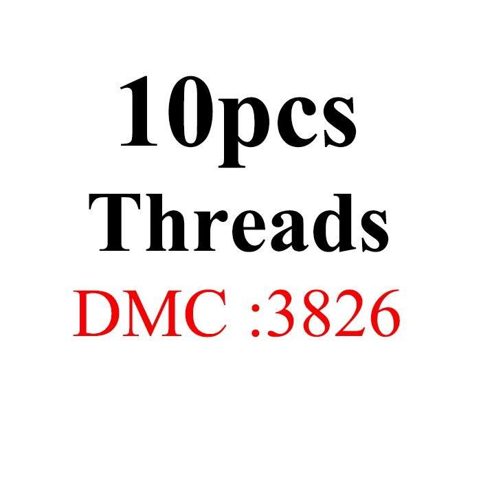 Snowlover, рукоделие, 10 шт./лот, 1,2 м, разные цвета, DMC3824-3848, вышивка крестиком, хлопковое шитье, моток пряжи, нить для вышивки - Цвет: 1.2mthread-DMC3826