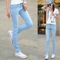 Super Deal 2016 Moda Feminina Doces Colorem Calças Lápis Primavera Outono Sensuais Calça Jeans Plus Size Calças Casuais