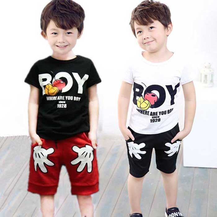 2016 Baby Boys Summer Sport Toddler Clothing Set Kids Cartoon T Shirts+Shorts Pants 2 Pcs Clothes Tracksuit Sets 2 3 4 5 6 Years