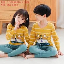 New Girl BoysNightwear Suit Princesss Nightwear Girls Babys Home Dress Cartoon Cotton