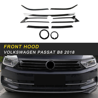 Front Hood Middle Net Grille Refit Frame Cover Trim Sticker Exterior Accessories For Volkswagen Passat B8 2018 Car Styling