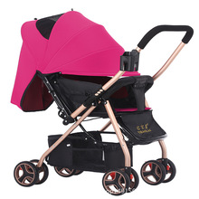 Baby trolley Two-way baby strollers two-wheeled baby carriages four-wheel brakes Can be on the plane umbrella carts