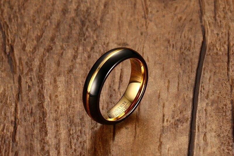 Купить мужское кольцо из вольфрамовой стали высокого качества модное