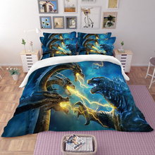 Godzilla 3D Bedding Set Duvet Covers Pillowcases Comforter Sets Gojira King of Monsters Bedclothes Bed Linen