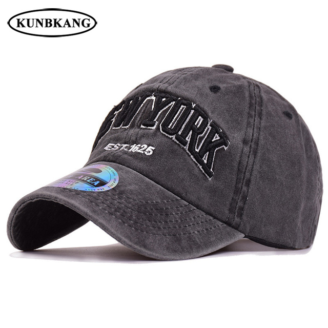 494837ed6f3 2018 Men Women Washed Denim Baseball Cap 3D Embroidery New York Snapback Dad  Hat Casquette Summer