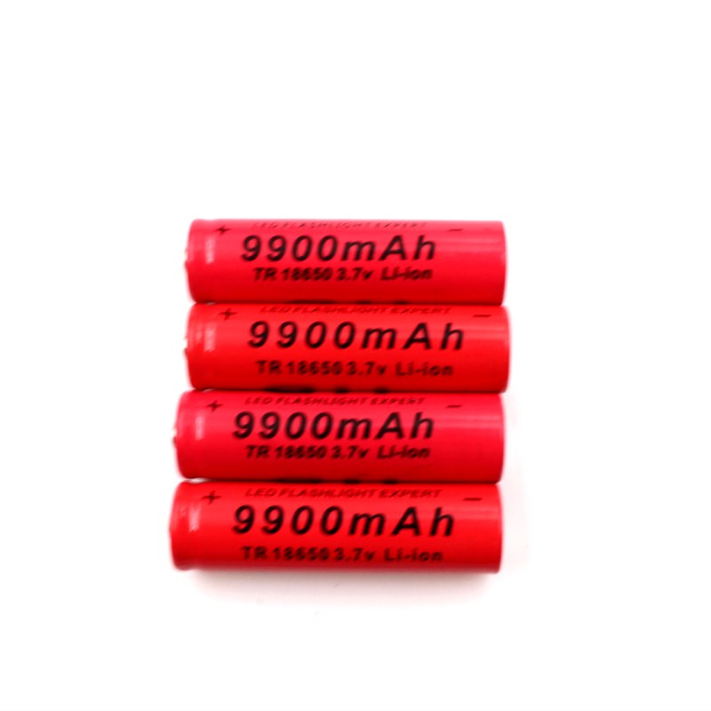PINTTENEN 4pcs Brand 18650 battery 3.7V 9900mAh rechargeable li-ion battery for cell 18650 batery+Intelligent battery charger