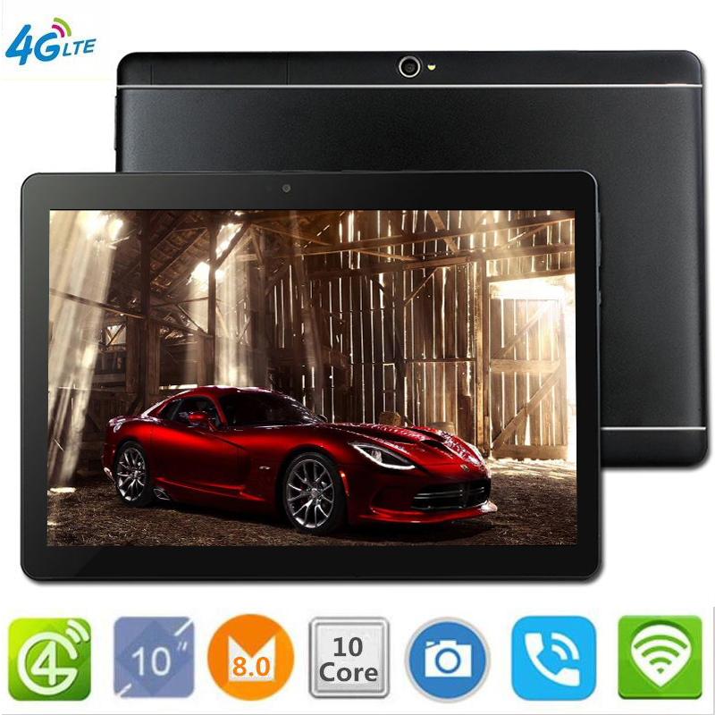 2019 NEW The Tablet  S109 10.1' WIFI 10 Core 128GB ROM Dual Camera 8MP Android 8.0 Tablet PC 4G LTE GPS Bluetooth Phone MT6797