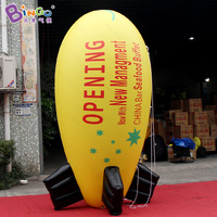 HIGH QUALITY PVC 3m inflatable airship model toy blimp balloon decoration customized printing logo for advertising in shop