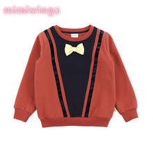 Autumn and winter new children sweater boys plus velvet thick sweater children's clothing
