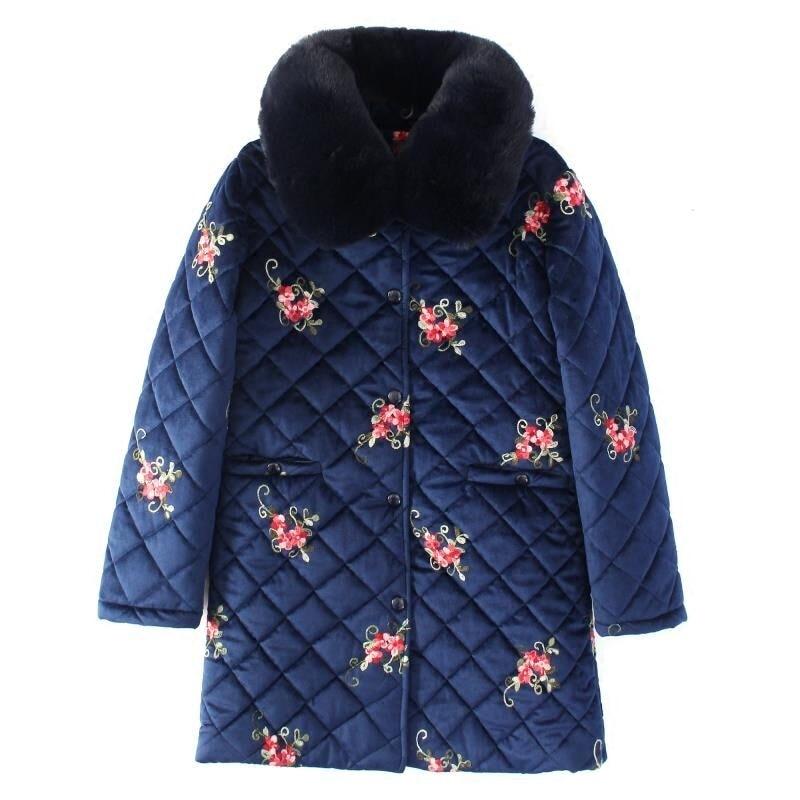 2018 Plus Size 5XL Winter Jacket Women Large Fur Collar Wadded Padded Coats Jacket Female Hooded Down Cotton Coat Parka Mujer