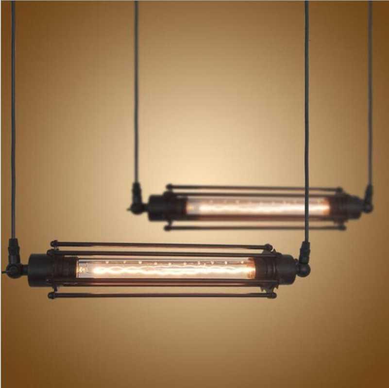 LukLoy, винтажный подвесной светильник-флейта, промышленный Ретро подвесной светильник для кухни, бара, гостиной, E27, 220 В, светильник